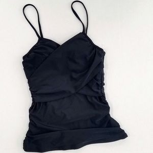 Old Navy Swim - Black Wrap-Front Tankini Top